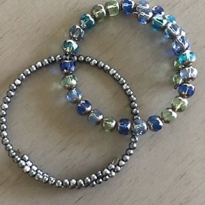 Jewelry - Pair of Beaded Wrap Bracelets